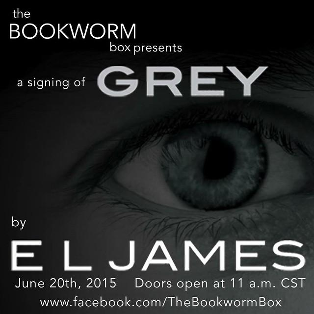 The Bookworm Box presents a signing of Grey by E L James.