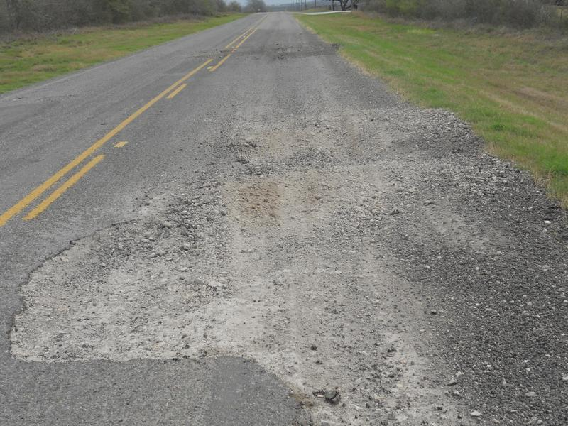Road maintenance is a major responsibility of Texas Counties.