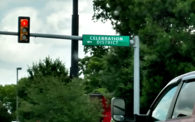 Celebration District signs guide the way to downtown Sulphur Springs.