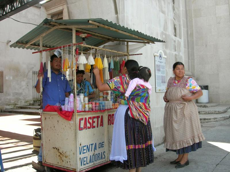 Vendor peddling wares in Antigua, Guatemala