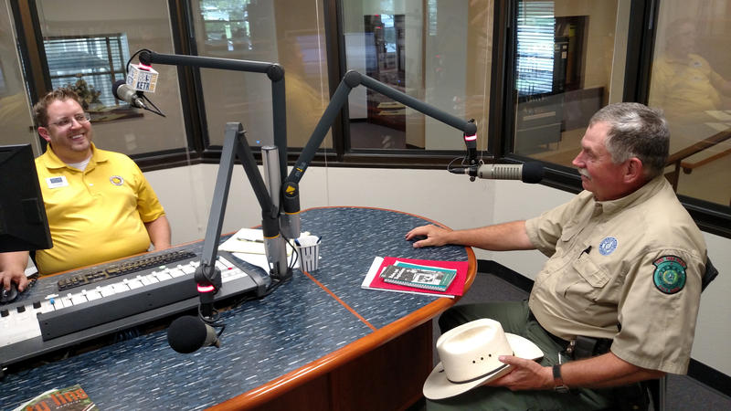 KETR's General Manager Jerrod Knight interviews Officer Jim Beach with Cooper Lake State Park on upcoming activities.