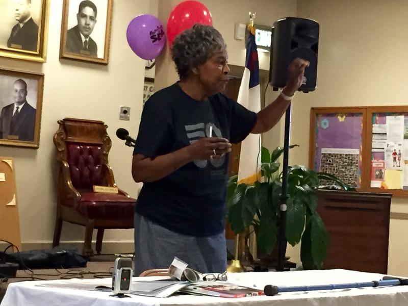 Myrna Jackson at the 16th Street Baptist Church in Birmingham