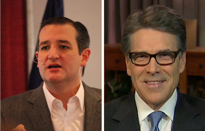 Former Governor Rick Perry and U.S. Senator Ted Cruz are tied in a national poll.
