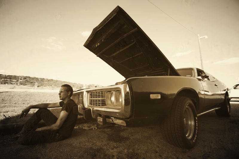 """Mike Flanigin and his '74 Dodge Charger named """"Black Betty"""""""