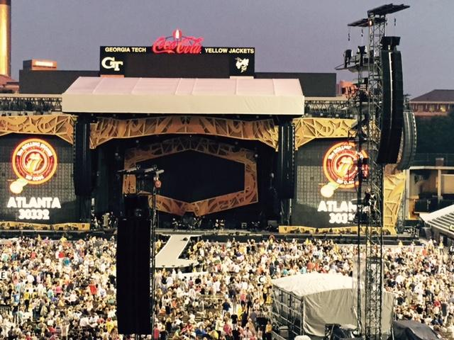 Bobby Dodd Stadium in Atlanta reached capacity for the Rolling Stones' June 2015 concert.