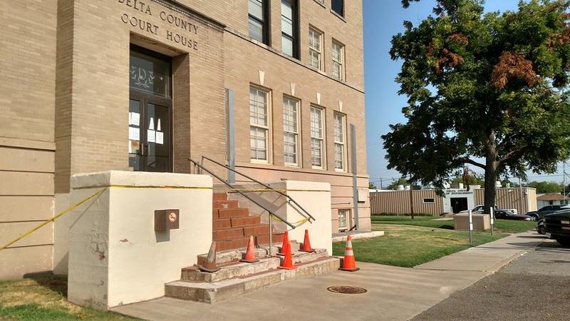 Delta County Judge Jason Murray announced the East Side steps will be closed due to repairs.