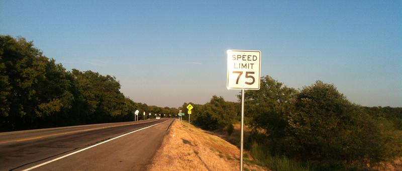 The speed limit in Delta County approaching the South Sulphur River bridge is 75 MPH.