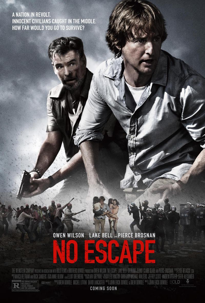 No Escape stars Owen Wilson, Lake Bell, and Pierce Brosnan.
