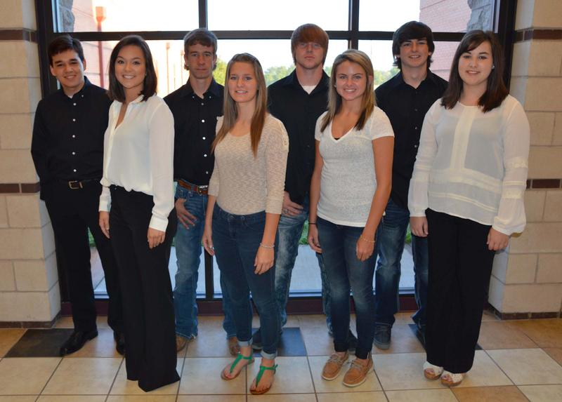 Cooper High School Homecoming 2015 Senior Nominees: (from left, above) Sam Sanchez, Sally Chambliss, Ryan Longshore, Jacie McGraw, Tristan Jones, McKenzie Miller, Dylan Toon and Rilee Purviance.