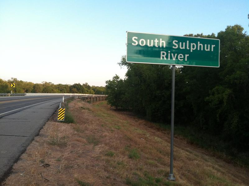 The South Sulphur River marks the Delta-Hopkins county line.