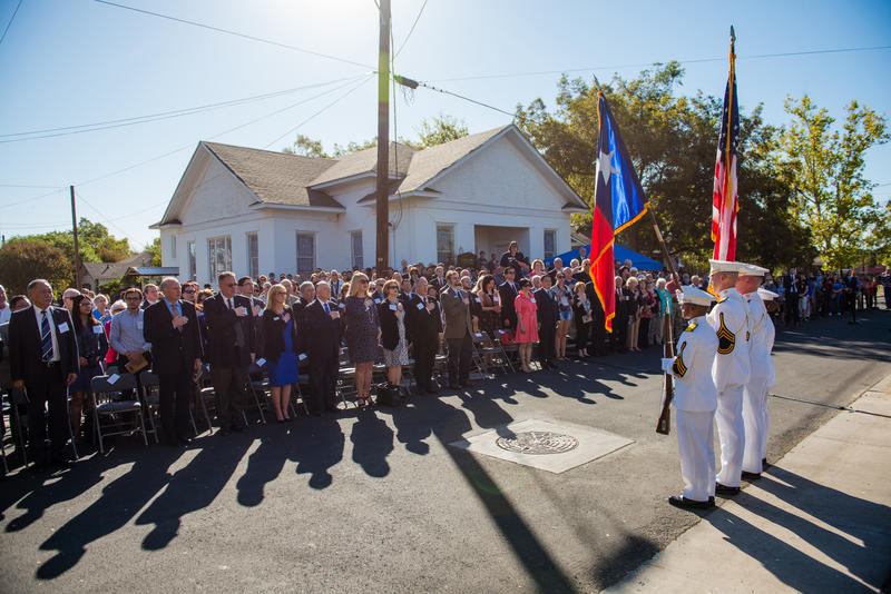 About 300 people attended the ceremony.