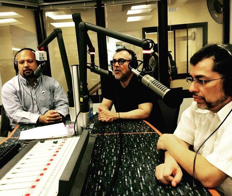 Dr. Christopher Gonzalez, Gilbert Hernandez and Jaime Hernandez spoke with KETR's Mark Haslett on Oct. 15 before a presentation at Texas A&M University-Commerce.