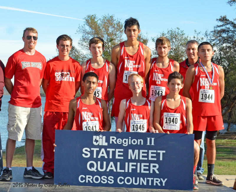 North Hopkins Varsity boys cross country team advancing to State.