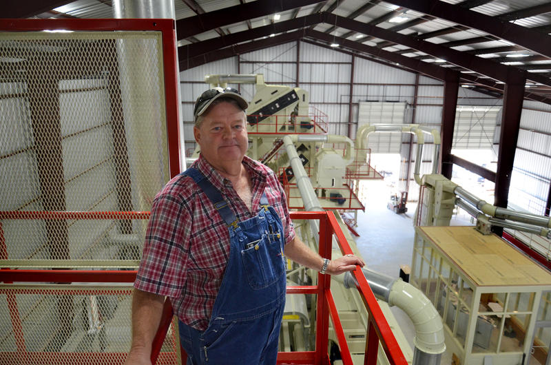 PPF Gin and Warehouse owner Pat Pilgrim stands high above what will be his legacy to Delta County as he hopes to make cotton king again.