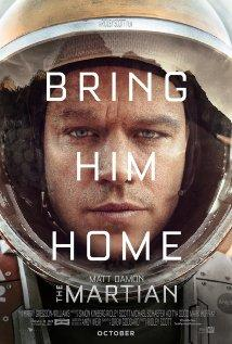 The Martian stars Matt Damon and Jessica Chastain.