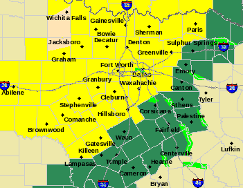 Collin, Dallas, Delta, Fannin, Hunt, Kaufman, Lamar and Rockwall counties are currently under a tornado watch until 8 p.m.