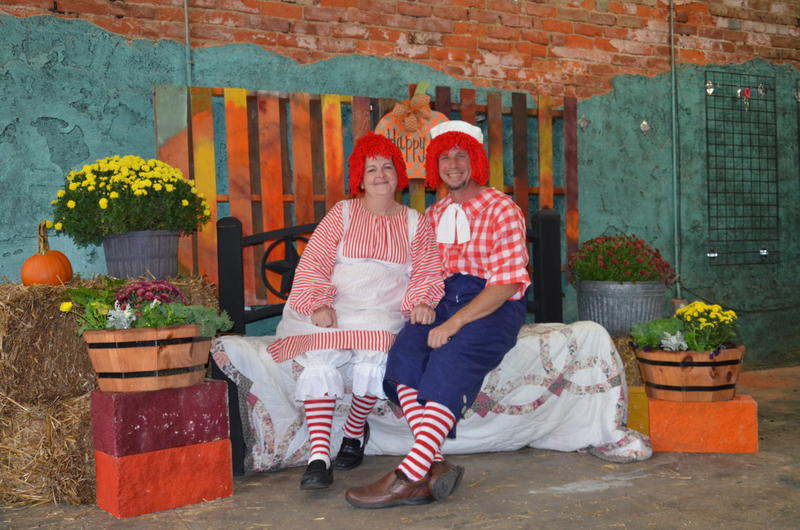 Raggedy Ann and Andy even made an appearance at Scream on the Square's free photo booth.