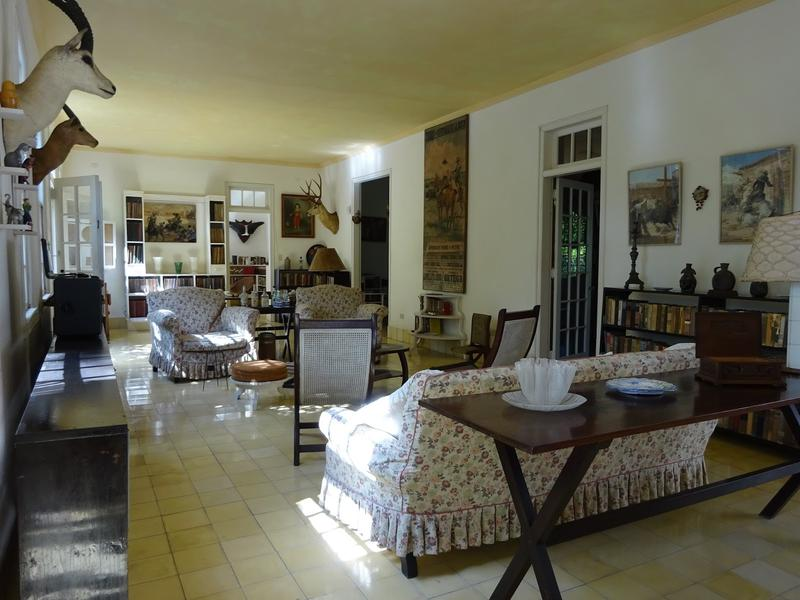 Interior of Ernest Hemingway's home in Havana, Cuba.