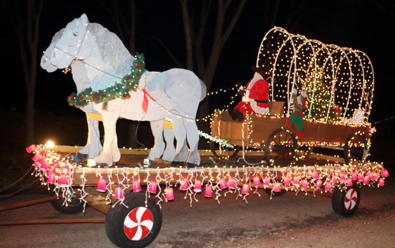 The Johnson Family are known for their winning floats in the Delta County Chamber's annual parade.