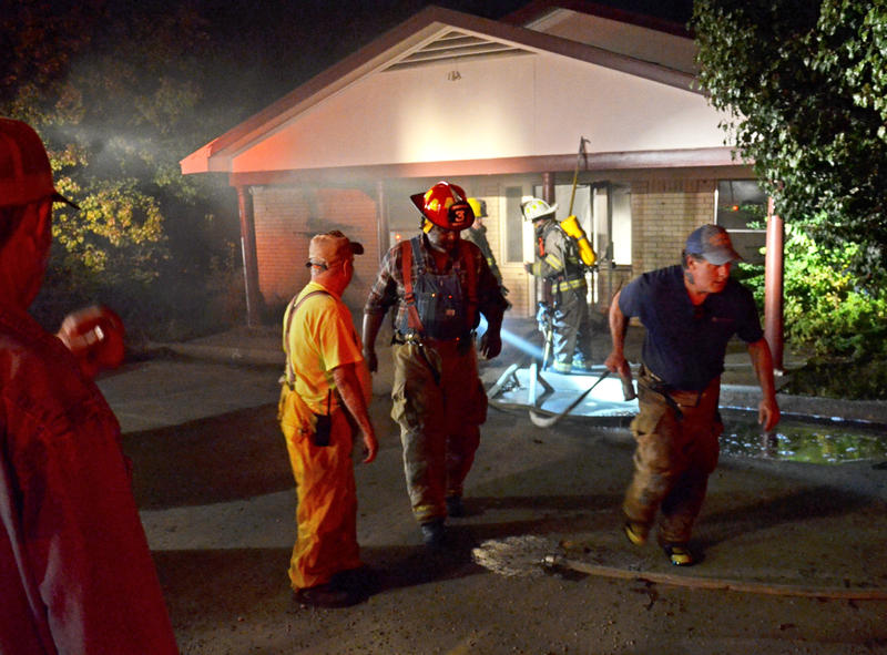 Multiple volunteer fire departments responded to Tuesday night's structure fire.