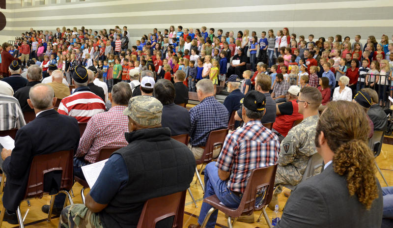 Cooper Elementary students sang