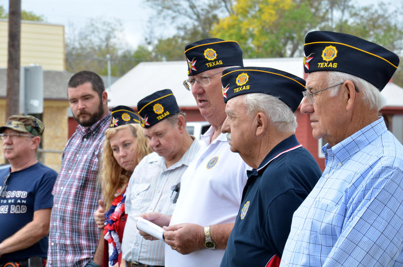 Red Henderson Post 483 honored Veterans at the memorial by the Delta County Courthouse.