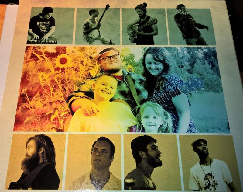 "Art and photos from inside the new Cas Haley ""More Music More Family"" album."