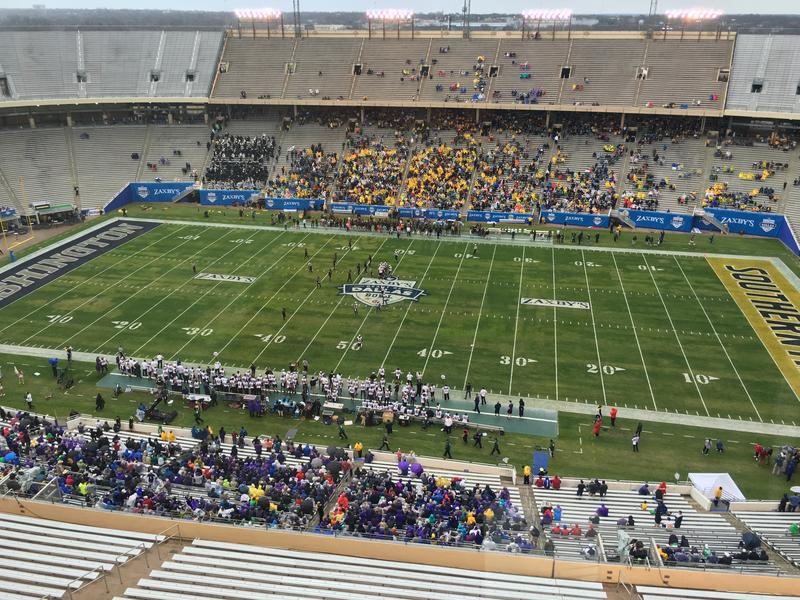 More seats than people at the Zaxby's Heart of Dallas Bowl.