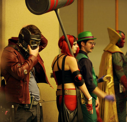 Starlord, Harley Quinn, The Riddler, & Vision line up for judgement