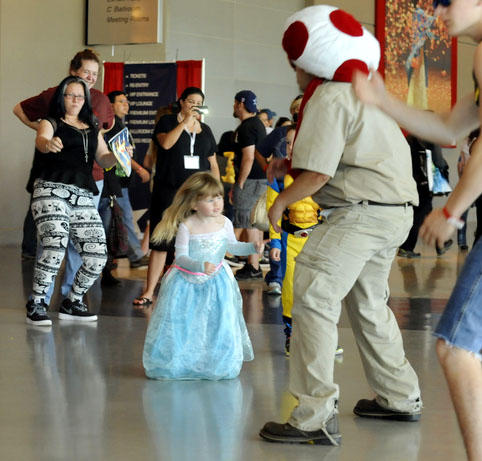 A young princess joins the dance
