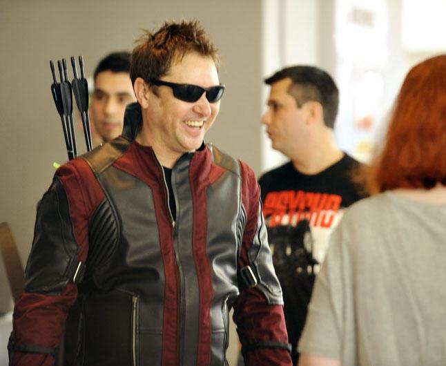 Hawkeye laughs