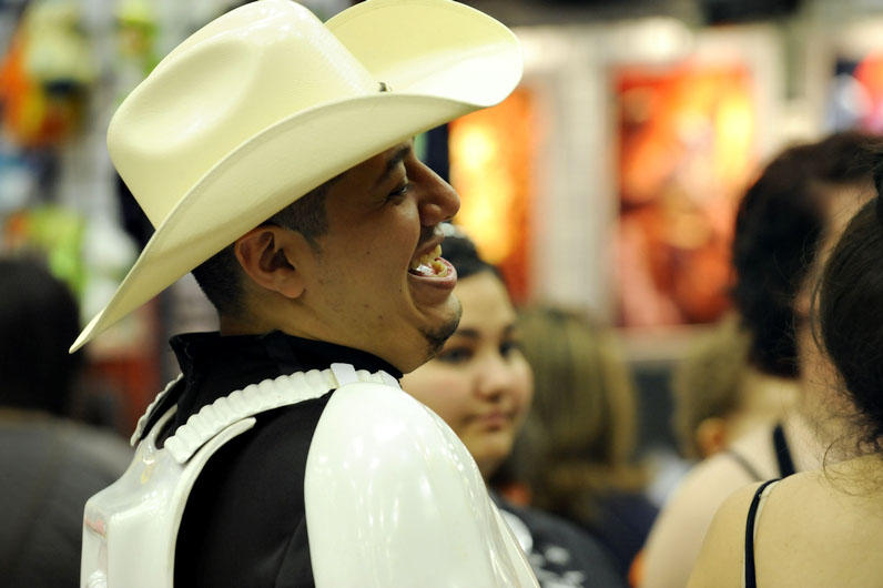 A Texas Stormtrooper laughs it off