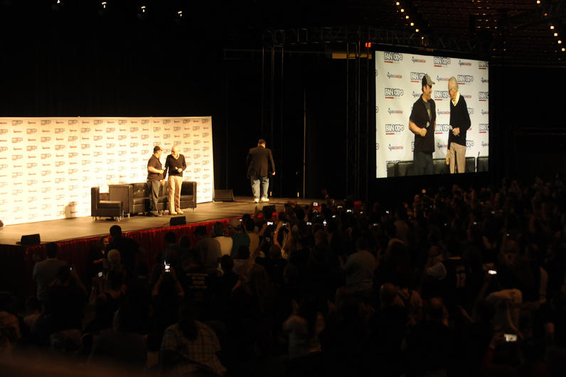Stan Lee greeted to a standing ovation