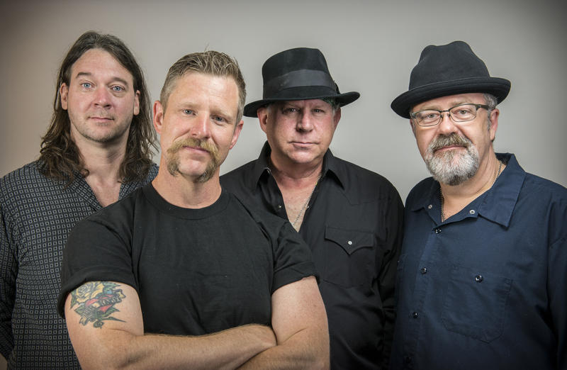 The Guy Forsyth Blues Band (left to right) Bassist Naj Conklin, Vocalist/Guitarist Guy Forsyth, Lead Guitarist George Rarey, and Drummer Mark Hayes.