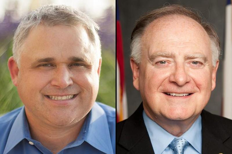 Bryan Slaton of Royse City, left, lost by 369 votes to incumbent Dan Flynn of Van in the primary election for the Republican nomination for the Texas House of Representatives District 2 office.