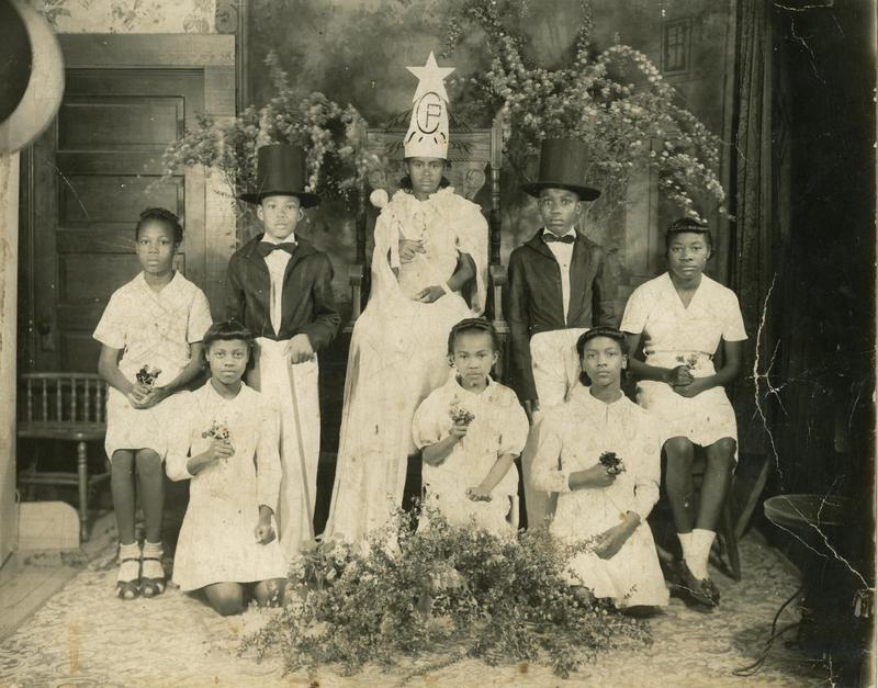 Crowning the Center Point Queen: Center Point, in Camp County, began as a Freedmen's community following the Civil War. In 1899, G.W. Goulsby opened a one-room school, the first in the settlement. In 1916 a new five-room school was built.