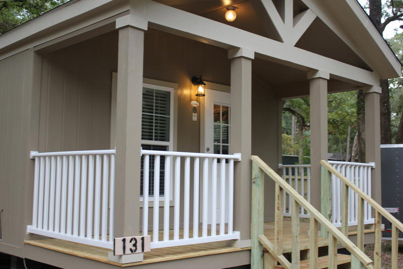 A cabin at the Crockett Family Resort on Houston County Lake. www.crockettresort.com