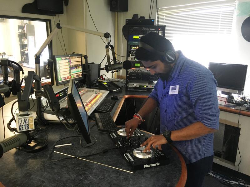 "Vamsi Kalakuntla hosts ""Friday Night with DJ VK"" on KETR."