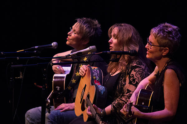 "(Left to right) Mary Gauther, Gretchen Peters and Eliza Gilkyson on the ""Three Women And The Truth"" tour."