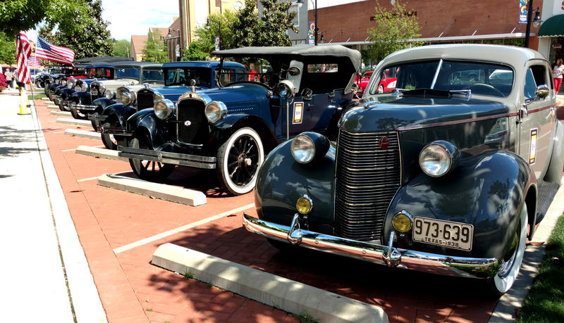 Cars from 1919-1933 rolled into Sulphur Springs last Thursday celebrating the Bankhead Highway Centennial.
