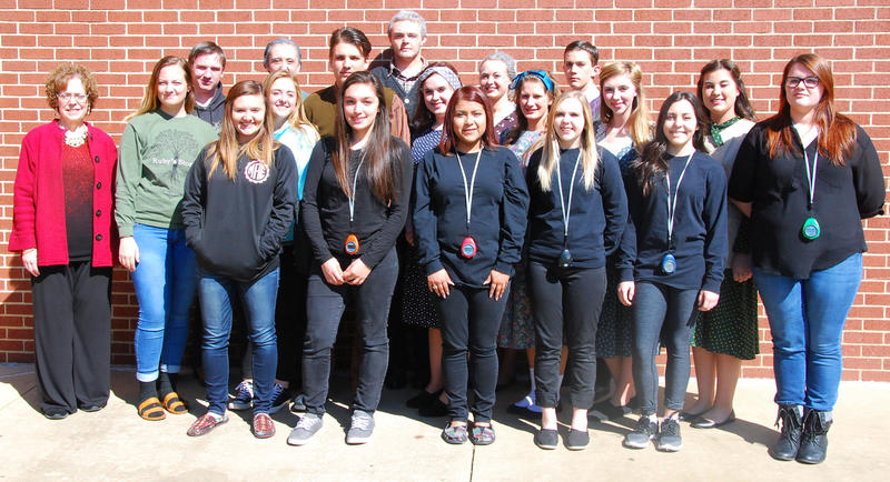 Cast, crew and instructor of Cooper High School's One Act Play