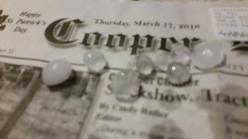 Nickel size hail fell in Cooper just days after the SKYWARN training was performed.