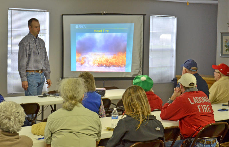 Grazing Lands Specialist Matt Machacek gave an in-depth power point display including photos and information.