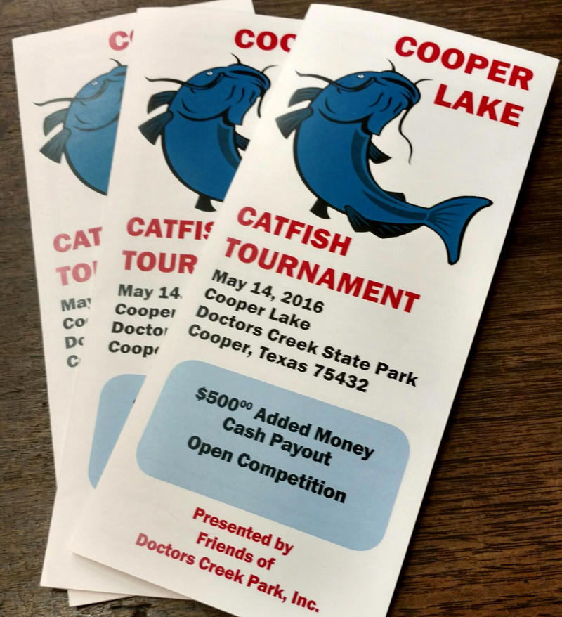 Catfish Tournament registration brochures are ready at the Delta County Chamber of Commerce.