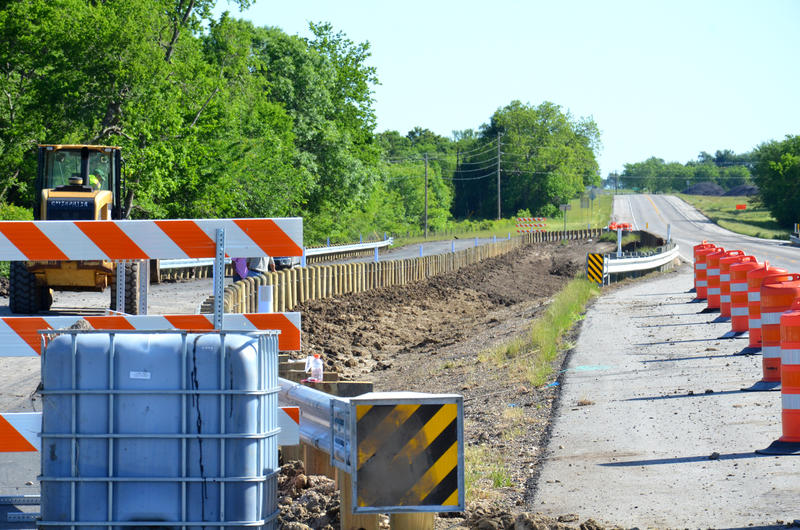 The bridge at Brushy Creek in Delta County continues to be under construction.