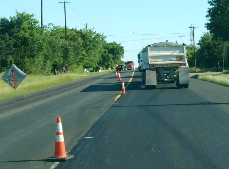 State Highway 19 is nearing completion with crews painting new road markers.