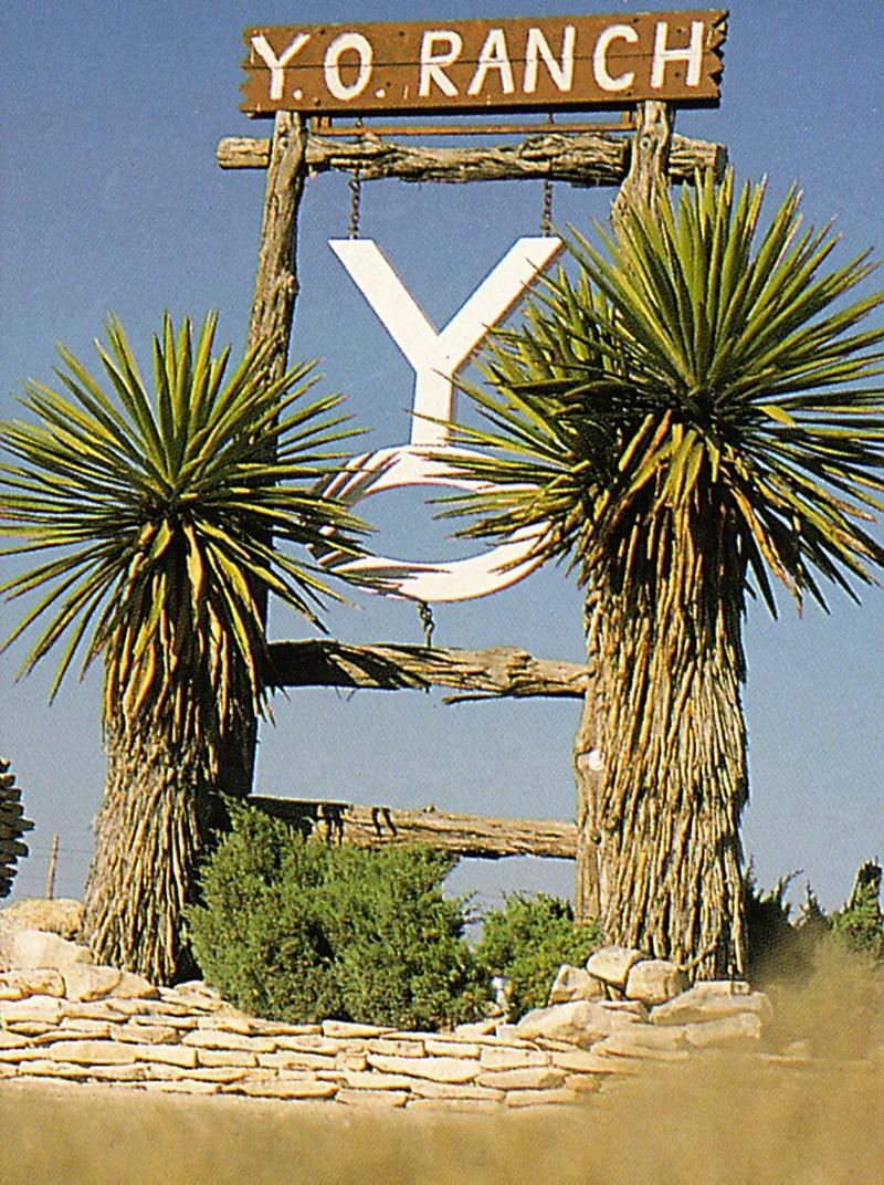This is the entrance to the famous YO RANCH  in Mountain Home, Texas