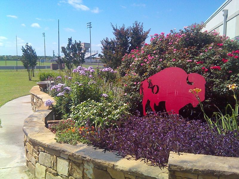 Lone Oak High School garden