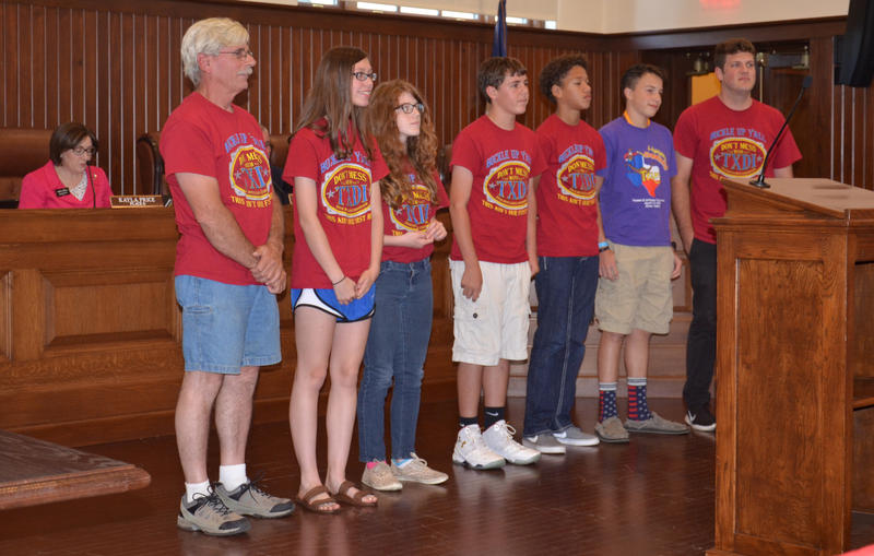 The Destination Imagination team from Sulphur Springs Middle School were given honors at the meeting.