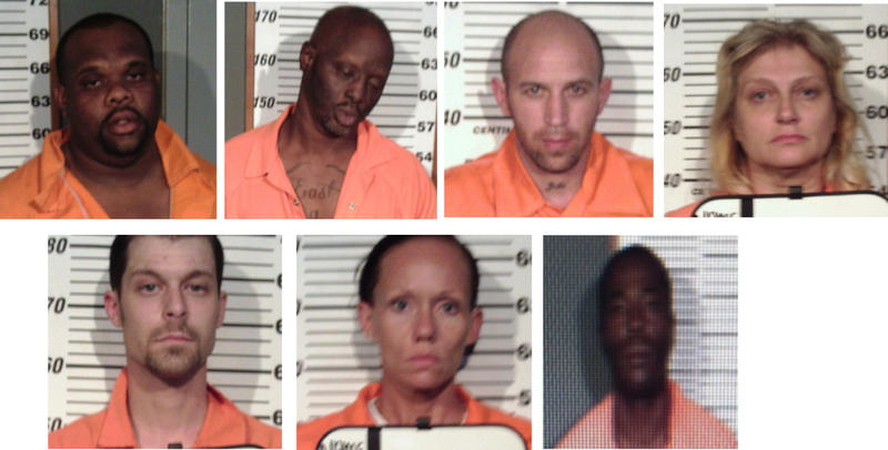 Trey Harmon, Roy Battle, Andy Soto, Kerena Talley, Anthony Pease, Janie Crist and Michael Johnson were arrested in undercover investigation in Cooper.